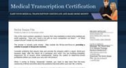 Thumbnail Medical Transcription Certification plr